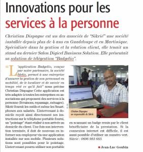 La télégestion Badgelio, pour les services à la personne,  Guadeloupe et Martinique